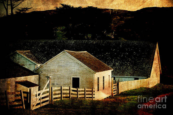 Photograph - Pierce Point Ranch 6 . Texture by Wingsdomain Art and Photography