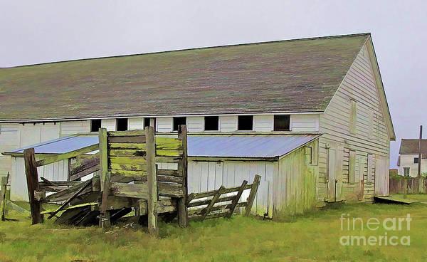 Pierce Pt. Ranch Barn Art Print
