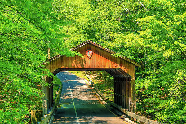 Photograph - Pierce Stocking Scenic Drive Covered Bridge by Dan Sproul