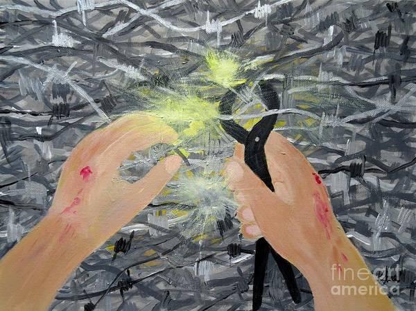Painting - Pierced by Karen Jane Jones