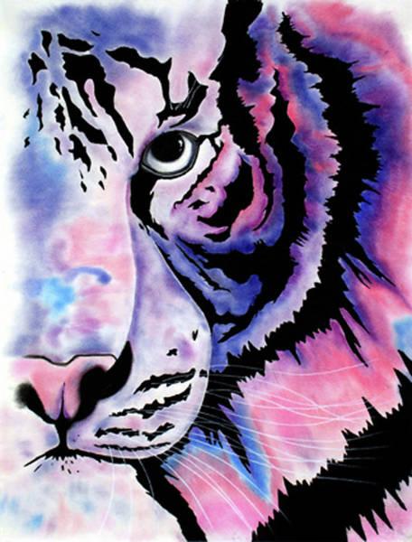 Bengal Tiger Drawing - Piercing  by Mayhem Mediums