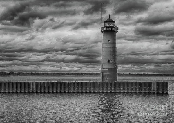 Photograph - Pierhead Lighthouse In Monochrome by Ricky L Jones