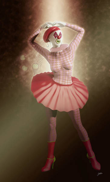 Wall Art - Digital Art - Pierrette Of The Red Passion by Joaquin Abella