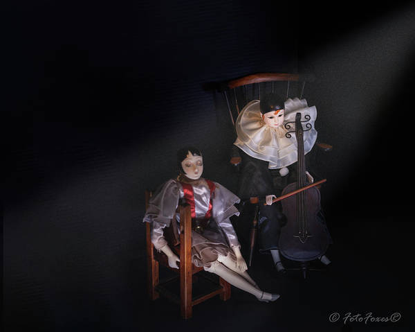 Photograph - Pierrot And Columbine by Alexander Fedin