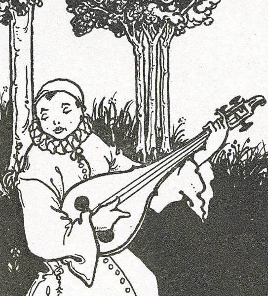 Beardsley Drawing - Pierrot by Aubrey Beardsley
