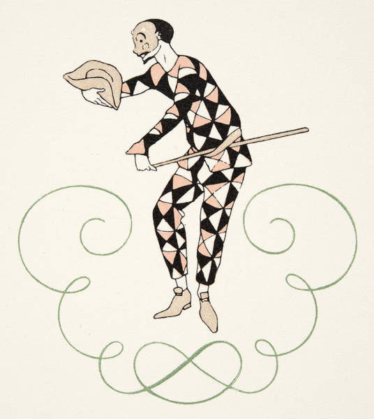 Wall Art - Drawing - Pierrot by Georges Barbier