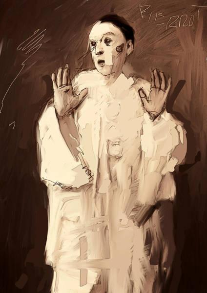 Arte Digital Art - Pierrot by H James Hoff