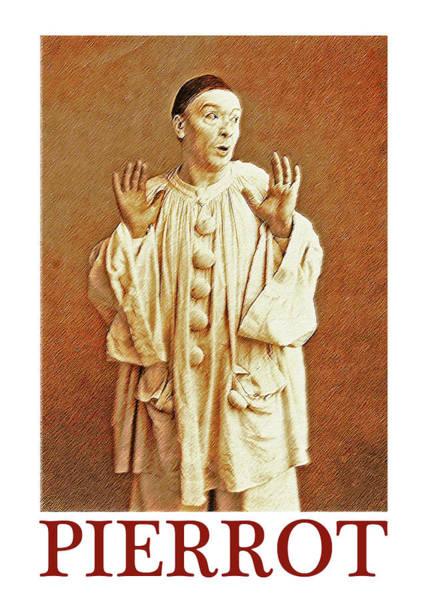 Commedia Dell Digital Art - Pierrot Opera Art Print by Sandra McGinley