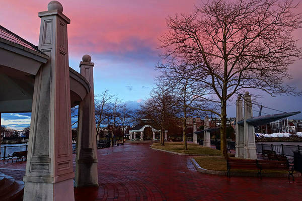 Photograph - Piers Park Sunset East Boston Ma by Toby McGuire