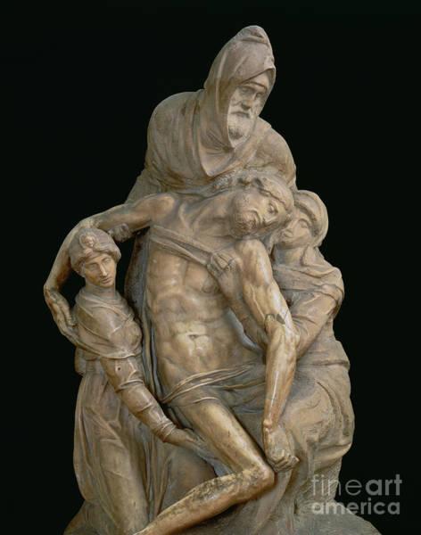 Buonarroti Wall Art - Sculpture - Pieta, 1553 by Michelangelo