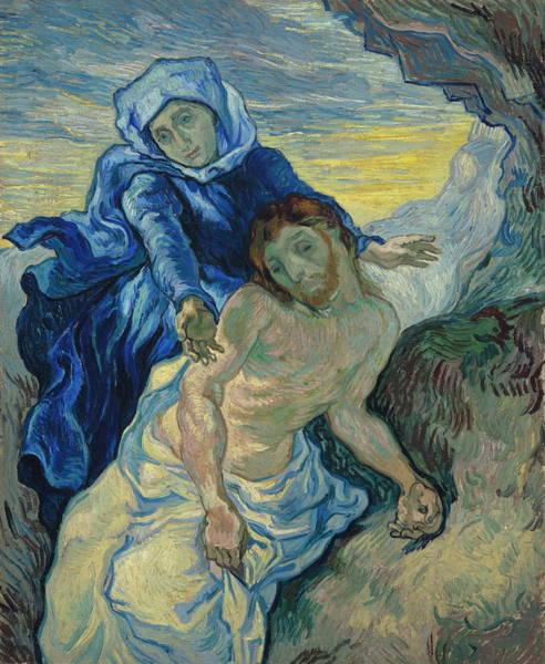 World Heritage Site Painting - Pieta After Delacroix, 1889 by Vincent Van Gogh
