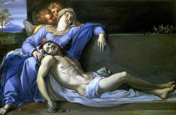 Wall Art - Painting - Pieta by Annibale Carracci