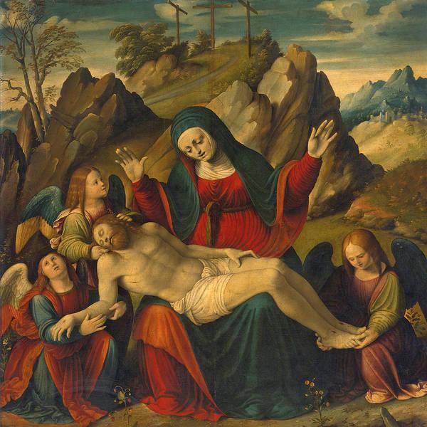 Cesare Painting - Pieta by Cesare Magni