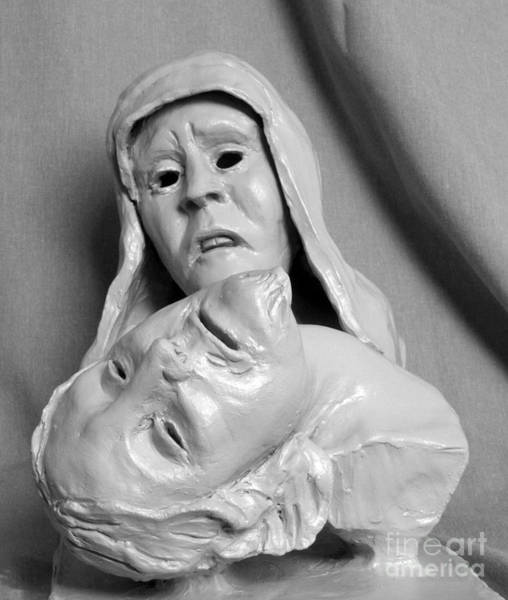 Sculpture - Pieta by Mary Capriole