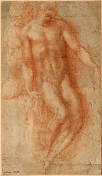 Buonarroti Wall Art - Drawing - Pieta by Michelangelo di Lodovico Buonarroti Simoni