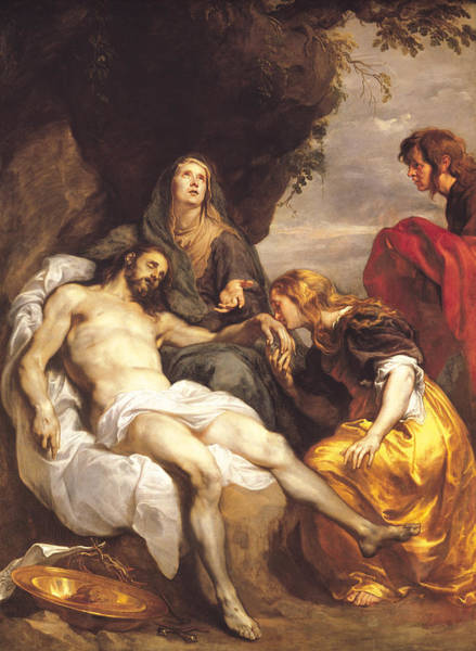 Immaculate Conception Wall Art - Painting - Pieta by Sir Anthony van Dyck