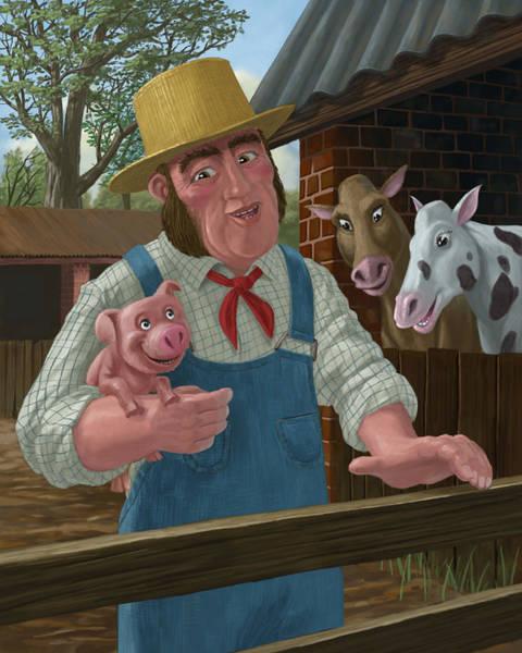 Painting - Pig Farmer by Martin Davey