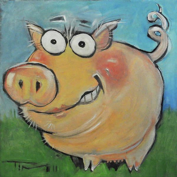 Painting - pig by Tim Nyberg