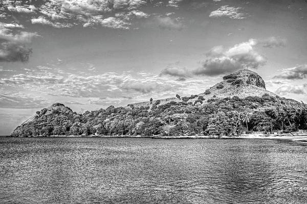 Photograph - Pigeon Island Saint Lucia Caribbean Black And White by Toby McGuire