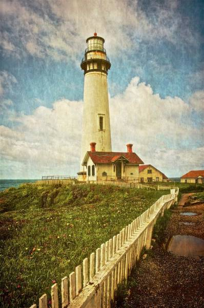 Photograph - Pigeon Point Light House, Textured by Flying Z Photography by Zayne Diamond