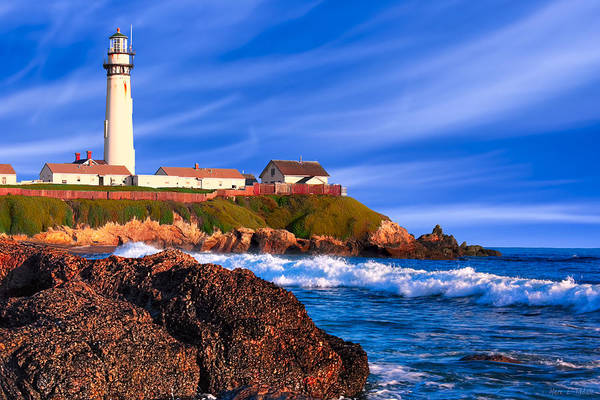 Photograph - Pigeon Point Lighthouse - California Coast Afternoon by Mark E Tisdale