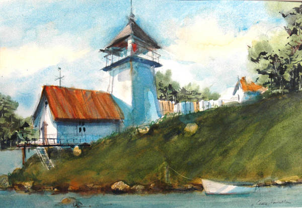 Painting - Pigeon Point Lighthouse by Charles Rowland
