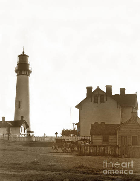 Photograph - Pigeon Point Lighthstation Was Built In 1871  Photo Circa 1908 by California Views Archives Mr Pat Hathaway Archives