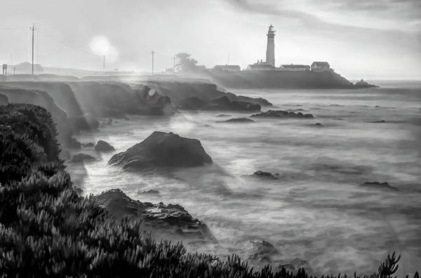 Photograph - Pigeon Point Rocky Shore by Wes Jimerson