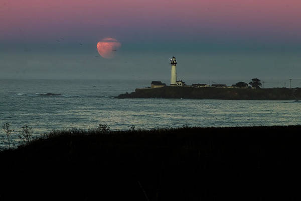 Photograph - Pigeon Point Supermoonset by Wes Jimerson