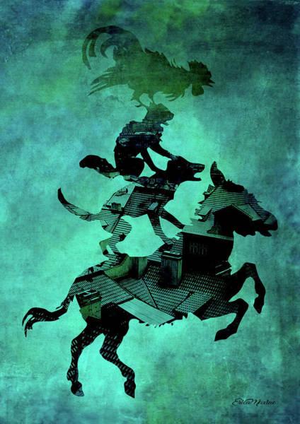 Digital Art - Piggyback Riding by Ericamaxine Price