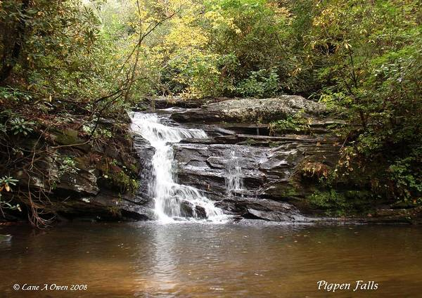 Pigpens Photograph - Pigpen Falls Oconee County Sc by Lane Owen