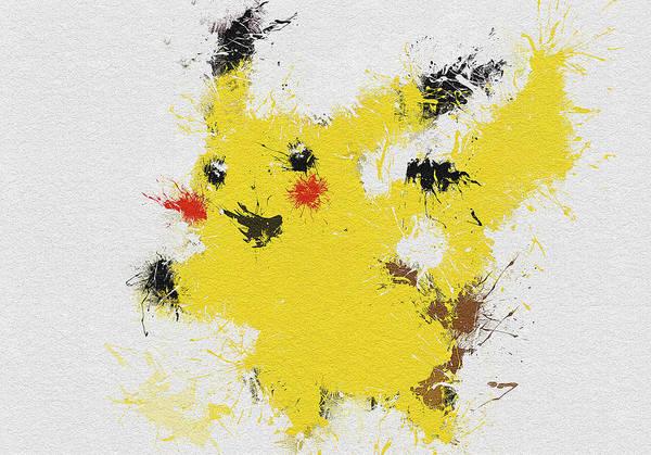Pokemon Wall Art - Painting - Pikachu by Miranda Sether