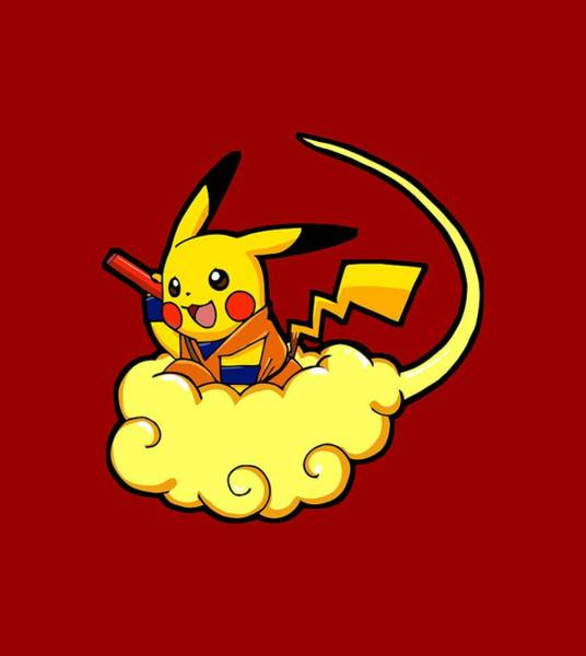 Pokemon Wall Art - Digital Art - Pikagoku by Billi Vhito