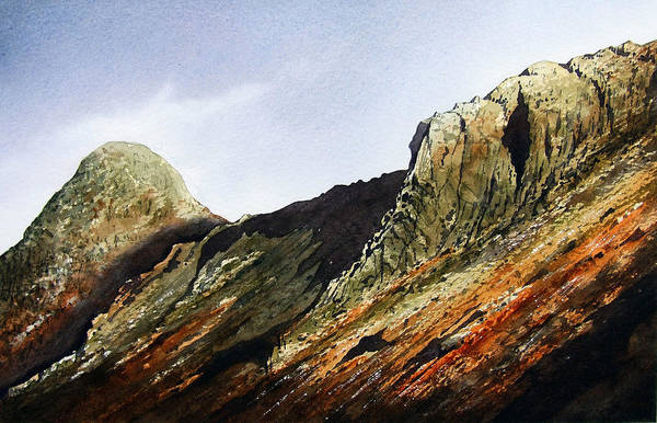 Wall Art - Painting - Pike O' Stickle And Loft Crag by Paul Dene Marlor