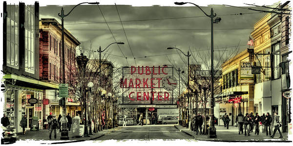Photograph - Pike Place Market In Seattle 2 by David Patterson