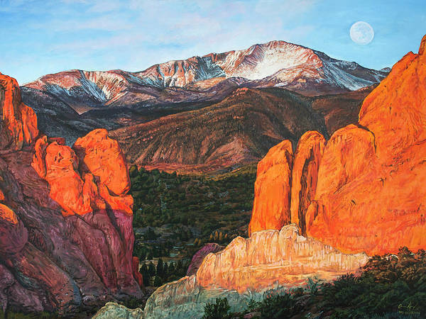 Painting - Pikes Peak by Aaron Spong