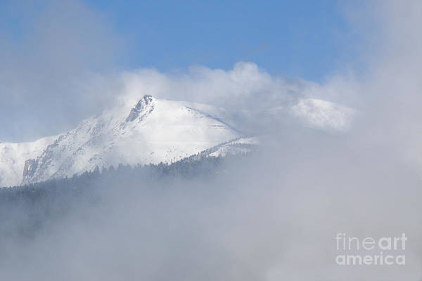 Photograph - Pikes Peak And Clouds After Snowstorm by Steve Krull