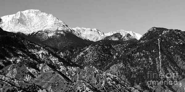 Photograph - Pikes Peak And Incline 36 By 18 by Steve Krull