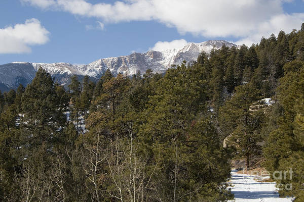 Photograph - Pikes Peak And The Barr Trail by Steve Krull