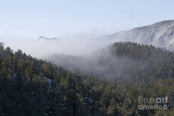 Photograph - Pikes Peak And Ute Pass And Clouds After Snowstorm by Steve Krull