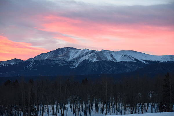 Sunrise Pikes Peak Co Art Print
