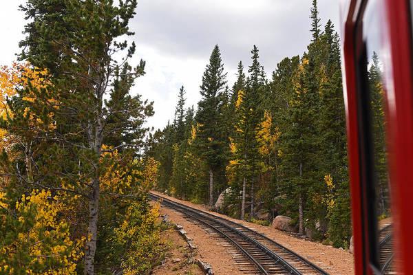Photograph - Pikes Peak Cog Rail Colorado Autumn by Toby McGuire
