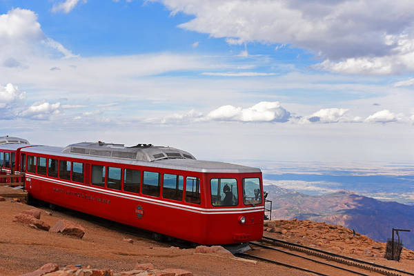 Photograph - Pikes Peak Cog Rail Colorado Peak by Toby McGuire