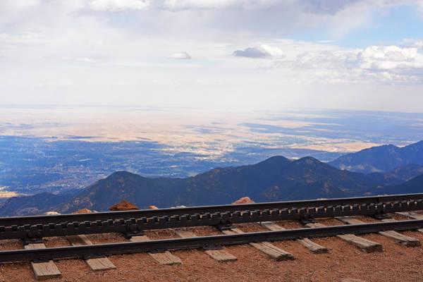 Photograph - Pikes Peak Cog Rail Train Tracks Colorado 2 by Toby McGuire