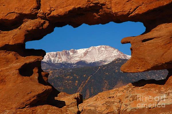 Wall Art - Photograph - Pike's Peak Frame by Jon Holiday