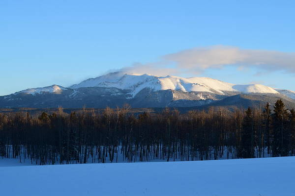Photograph - Pikes Peak From Cr511 Divide Co by Margarethe Binkley