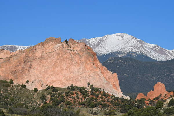 Photograph - Pikes Peak - Garden Of The Gods Cos by Margarethe Binkley