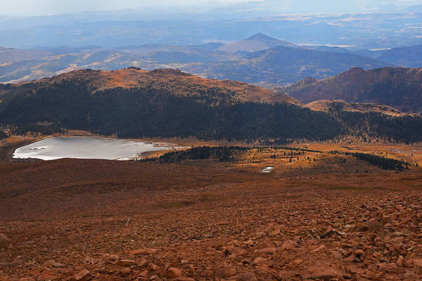 Photograph - Pikes Peak Manitou Colorado Lake Mountains by Toby McGuire