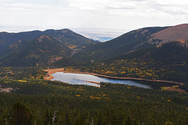 Photograph - Pikes Peak Manitou Colorado Lake by Toby McGuire