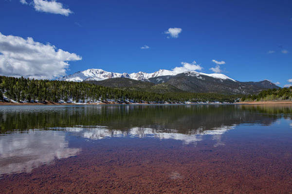 Fourteener Photograph - Pike's Peak Red Reflection by Bridget Calip